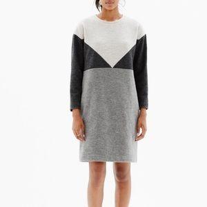 Madewell Geo Tilt Color Block Shift Dress